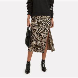 Beautiful ANINE BING zebra 100% silk skirt.